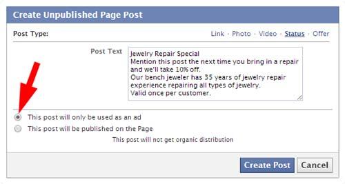 ¿Qué es un dark post en Facebook?