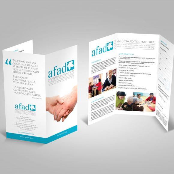 Desarrollo y producción de piezas gráficas para la gestión corporativa y comercial de AFAD por Tangram