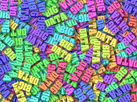 Ilustración con palabras Big Data