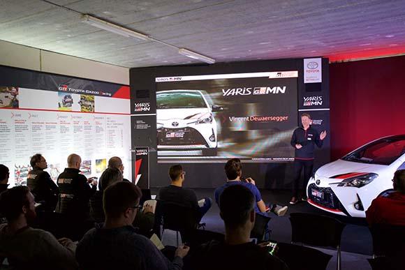 Tangram en la presentación del Toyota Yaris GRMN