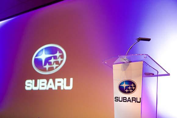 Atril para evento Subaru