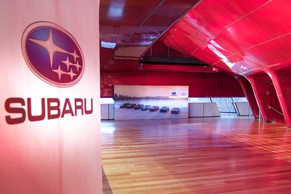 Grafica de Tangram para evento Subaru