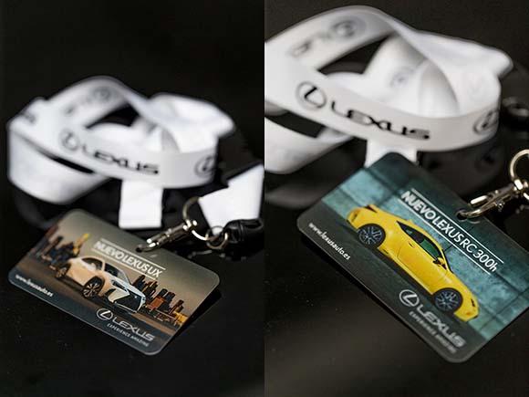 Tarjetas de presentación de los nuevos modelos Lexus