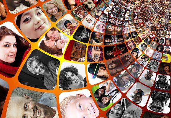 Espiral de fotos de consumidores