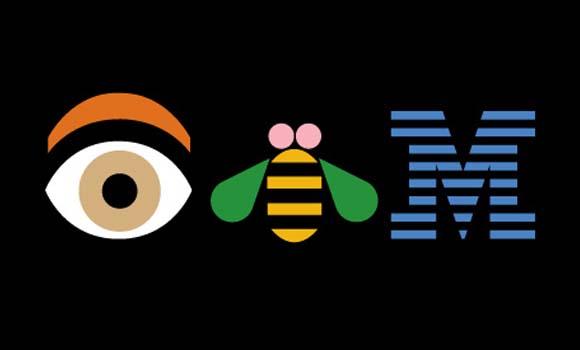 Cartel de publicidad de IBM de Paul Rand
