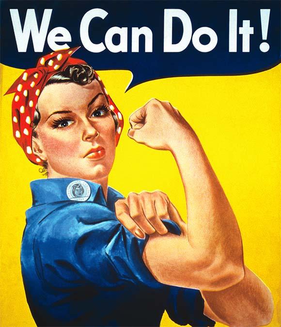 Cartel publicidad We can do it