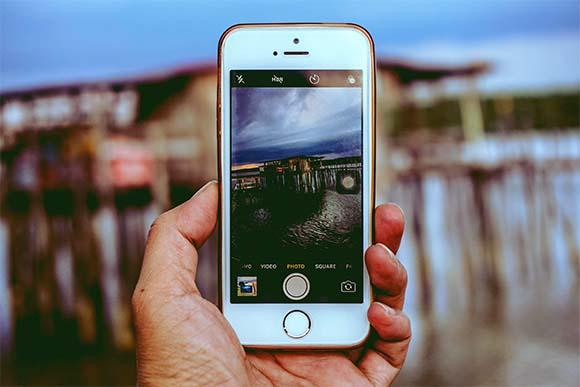 Tomando fotografía con iPhone