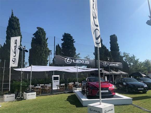 Vista del stand de Lexus en el CSIO de Barcelona
