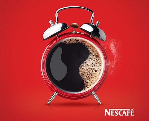 Cartel publicitario de Nescafé